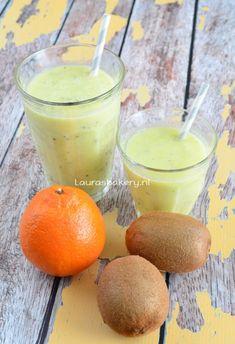 Sinaasappel-kiwi smoothie - Laura's Bakery - orange-kiwi smoothie