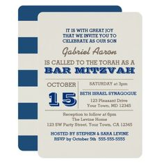 Shop Navy Blue & Silver Bar Mitzvah Invitation created by VisionsandVerses. Personalize it with photos & text or purchase as is! Bar Mitzvah Invitations, Zazzle Invitations, Catholic Confirmation, Beth Israel, Blue And Silver, Navy Blue, Torah, Silver Bars, Top Gifts