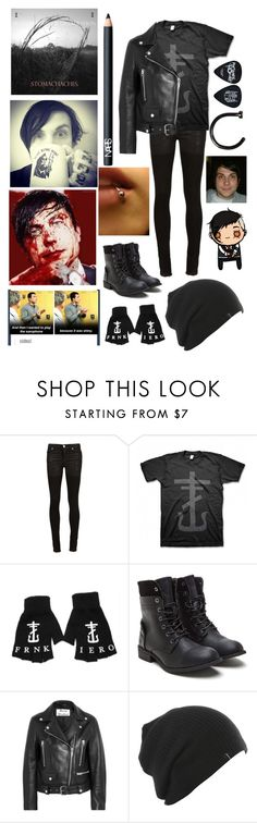 """""""I'm listening to Stomachaches for the 10th time today..."""" by emo-kyleigh ❤ liked on Polyvore featuring Alyx, Paul Frank, Acne Studios and NARS Cosmetics"""