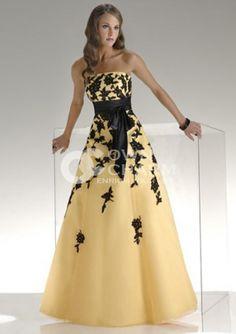 yellow and black prom dress - ♡ YELLOW ♥ BLACK ♡ - Pinterest ...