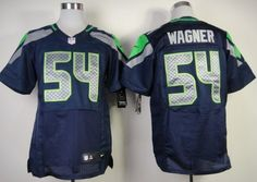Nike Seattle Seahawks #54 Bobby Wagner Navy Blue Elite Jersey