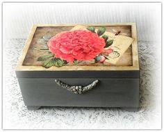 Portagioie in legno scatola di gioielli di CarmenHandCrafts