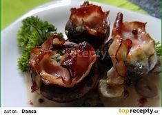 Zapečené plněné žampiony se smetanovou omáčkou recept - TopRecepty.cz Baked Potato, Sushi, French Toast, Potatoes, Baking, Breakfast, Ethnic Recipes, Food, Bread Making