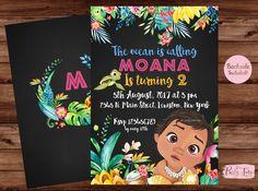 Cumpleaños de Moana Moana invitación  fiesta de cumpleaños de