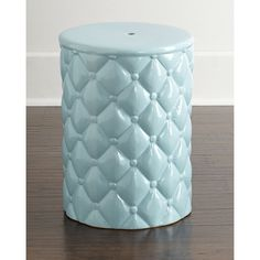 """""""Tufted"""" Garden Stool (£97) ❤ liked on Polyvore featuring home, outdoors, patio furniture, outdoor stools and porcelain garden stool"""