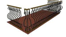 3D Model of Ringhiera Classica  x Balcone