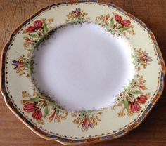 Antique England CROWN DUCAL ware Plate USA PAT.