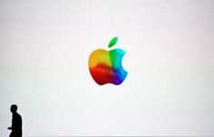 At the end of the iPad announcement yesterday, there was a very colorful Apple logo left on the screen which caught the attention of media... could this possibly be a hint of a revised Apple logo?