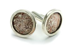 Mokume Gane Cufflink  visit for more style at... www.mokumeganestudio.com