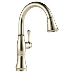 Delta Cassidy Single Handle Pull Down Sprayer Kitchen Faucet In Polished  Nickel