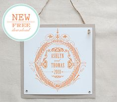 Free printable Formal Crest Do It Yourself Custom Monogram