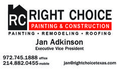 Right Choice Painting and Construction Business Card created by Marni G Designs #MarniGDesigns #BusinessCard #BC #RightChoice #Painting&Construction