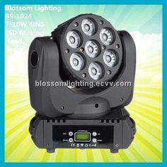 Nightclub Lighting Updated 7*10W 4IN1 LED Moving Head Beam Light (BS-1024) (BS-1024) - China DMX Lighting;RGBW Lighting;Nightclub Design,...