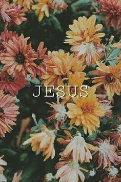 Wallpaper de Jesus com flores