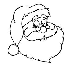 Santa Claus Coloring Pages For Kids - Christmas Coloring pages of ...