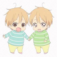 Resultado de imagen de Mamiya Takuma y Mamiya Kazuma de Gakuen Babysitters