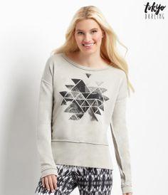 Tokyo Darling Triangle Rose Pieced Sweatshirt - Aéropostale®