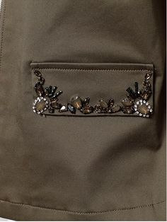NEW ARRIVAL Apuweiser Pocket Pocket Bijou Military Jacket …, # fashion # fashions # sumummaryfashion # smummfashions # women # womens clothing, # womens clothing - embroidery Embroidery On Clothes, Hand Work Embroidery, Embroidered Clothes, Embroidery Jewelry, Tambour Embroidery, Embroidery Stitches, Embroidery Patterns, Geometric Embroidery, Fashion Details