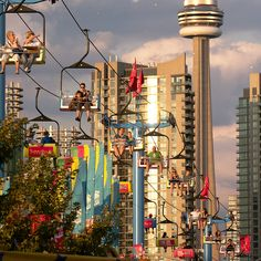 Skyride  at the Exhibition Place, Toronto, Canada