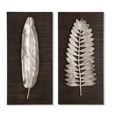 Silver Leaves Decorative Wall Plaques (Set of 2) - Overstock™ Shopping - Great Deals on Accent Pieces