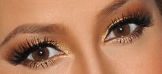 golden eyemakeup, nice for the summer