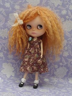 Ayalaythe - spring dress for Blythe dolls I love her hair and freckles