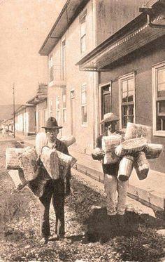 Vendedores de mimbre 1900