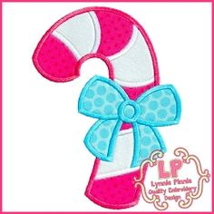 Candy Cane Bow Applique - 3 Sizes! | What's New | Machine Embroidery Designs | SWAKembroidery.com Lynnie Pinnie