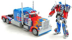 Half of me wants to believe that this amazing Lego version of Optimus Prime (the Michael Bay movie version) that can actually transform into a robot is legit. But the other half of me is having a hard time believing that Ralph Savelsberg didn't just hire Industrial Light & Magic to help fake these photos with CG.