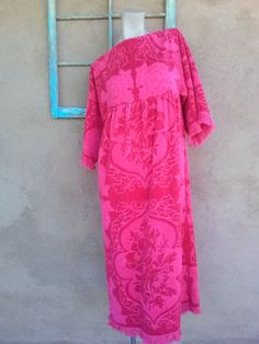 Vintage 1960s Dress Terry Cloth Velour Towel Dress Beach Pool Cover Up  Medium 2015217 2b17c3dca