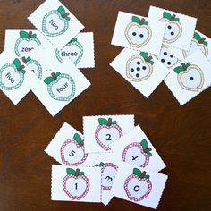 Apple Number Cards for 0 to 5 (free; from Fantastic Fun & Learning)