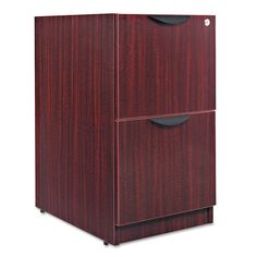 Alera Valencia File/File Drawer Full Pedestal 15 x 20 x 28 Mahogany -- More info could be found at the image url. (This is an affiliate link) Pedestal, Armoire, Home Office Furniture Design, Valencia, Mobile File Cabinet, Types Of Cabinets, Rack Shelf, Tall Cabinet Storage