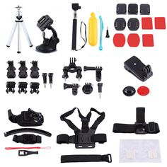 ==> [Free Shipping] Buy Best 50pcs/Lot Storage Case Tripod Monopod Strap&Mounts Selfie Sticks Camera Accessories Set For GoPro Sports Action Video Cameras Online with LOWEST Price | 32810365852