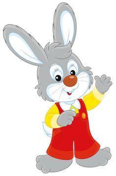 Картинка зайца на белом фоне сказочный
