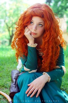 "The last pinner said: ""Merida. Don't know if this is actually at Disney, but whatever. :D"" -- I care not, it looks to be a good cosplay."