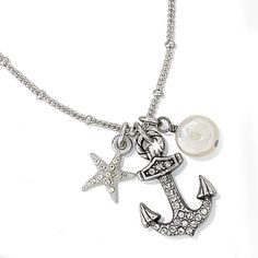 Brighton Anchors Away Trio necklace available at Dunkelberger's for Women Brighton Jewelry, I Love Jewelry, Anchors, Eyewear, Jewelery, Fashion Beauty, Bling, Delta Gamma, Charmed