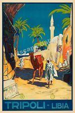 Tripoli Libya 1920s Desert Travel Poster - 16x24