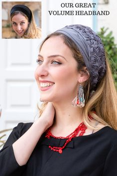👍🧡ONE SIZE! NO NEED TIE! Stretched! The best quality Volume Headband with Anti-Slip velvet! Excellent under HEADBANDS and can be also under each Tichel, Head Scarf, Head Scarves, Wigs, Scarf, Hair Snoods,Snoods, Pre tied Bandanas, Head Scarves Chemo and more! #headscarf #tichel #Headwrap #Turban #summerstyle #beautiful #beauty #fashion #love #judaism #hebrew #headscarve #religion #religious #israel #israeli #pashmina #tichels #mitpachat #headcovering #modesty #beautiful #hairloss #chemo #… Header, Flower Band, Bandana Scarf, Small Flowers, New Pins, Scarf Head, Head Wraps, Headbands, Wigs