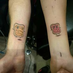 Peanut Butter and Jelly Tattoos for Couples
