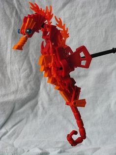 LEGO seahorse by Mike Nieves