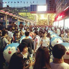 #doraemon #hongkong #harborcity #crowd - @rankkk- #webstagram