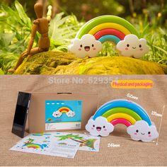 luzes do arco-íris nuvens som e luz controle diy etiqueta da parede sensor de luz noite lâmpadas linda decoração do quarto do bebê suprimentos