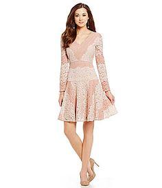Antonio Melani Folince TwoTone Lace Dress #Dillards