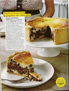 tarte à la ricotta et pépites de chocolat