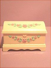 Cedar chest for small doll sold on website http://barbspencerdolls.com in FURNITURE.
