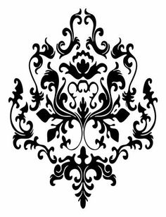3 Baroque Graphics Vinyl Decal Wall Sticker Or Stencil Design Stencils, Damask Stencil, Stencil Patterns, Stencil Designs, Wall Art Designs, Damask Patterns, Bird Stencil, Wall Decal Sticker, Vinyl Decals
