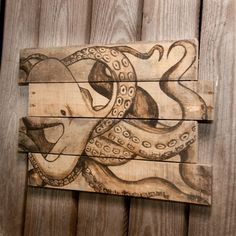 Octopus painting Octopus art Beach house decor by SimplyPallets
