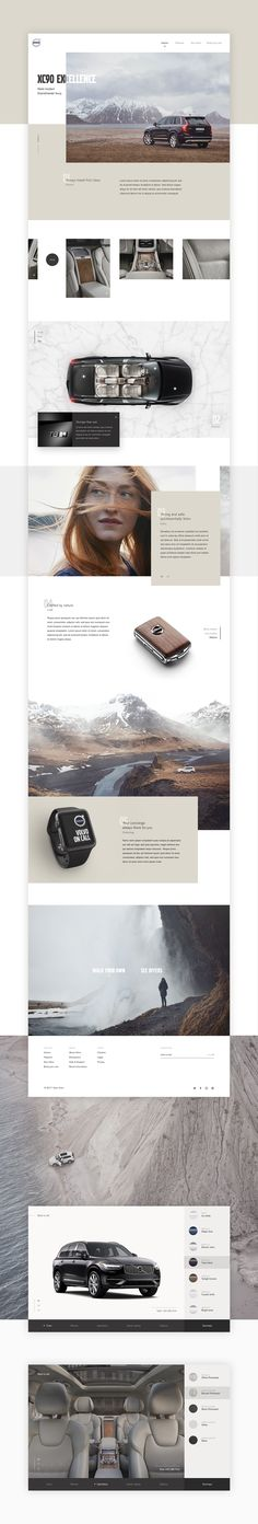 Volvo XC90 Excellence website on Behance