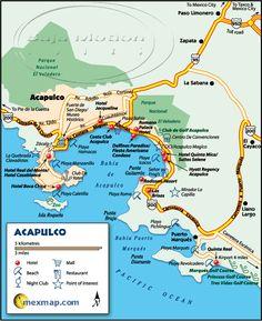 Acapulco Mexico Maps