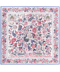 Liberty London Cream Tree of Life Silk Scarf | Silk Scarves by Liberty London | Liberty.co.uk